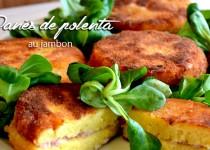 Panés de polenta au jambon