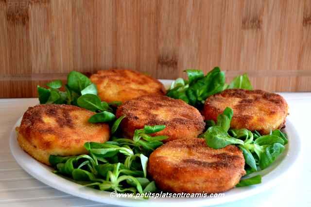 plat de pané-de-polenta-au-jambon