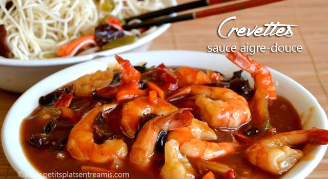 Crevettes sauce aigre,douce