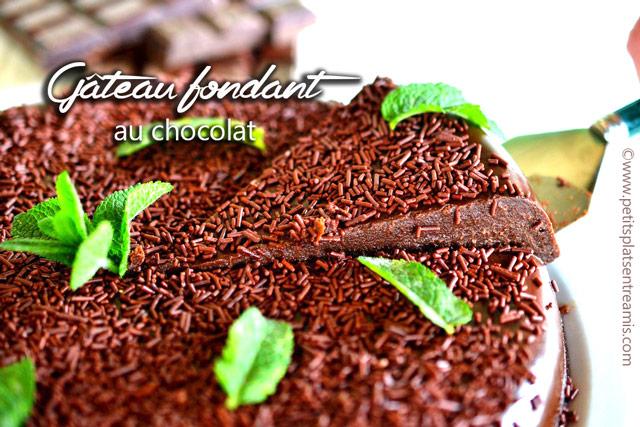 véritable fondant au chocolat recette