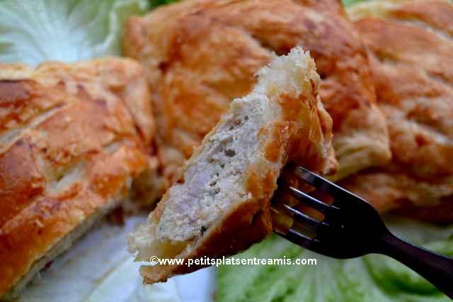bouchée de feuilleté au poulet