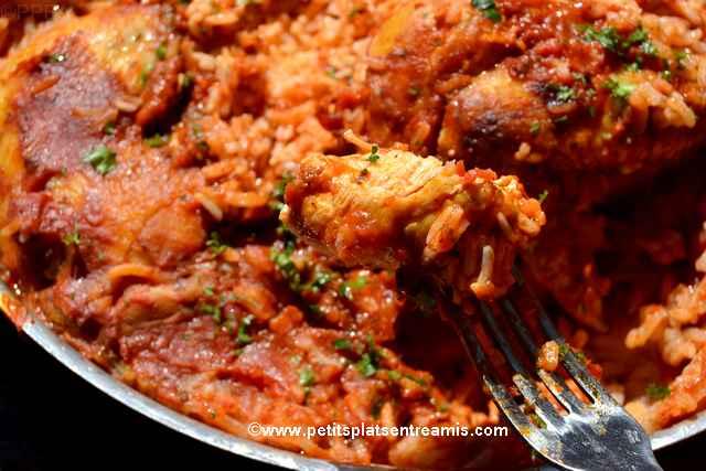 bouchée de poulet aux tomates