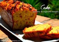 Cake aux lardons et oignons rouges