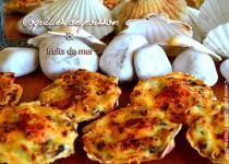 Coquilles de poisson et fruits de mer