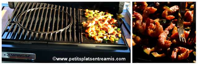 cuisson crevettes sauce satay