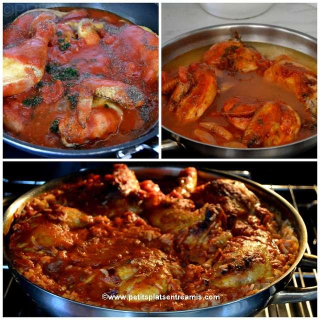 cuisson poulet aux tomates