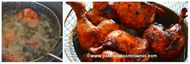 cuisson poulet frit