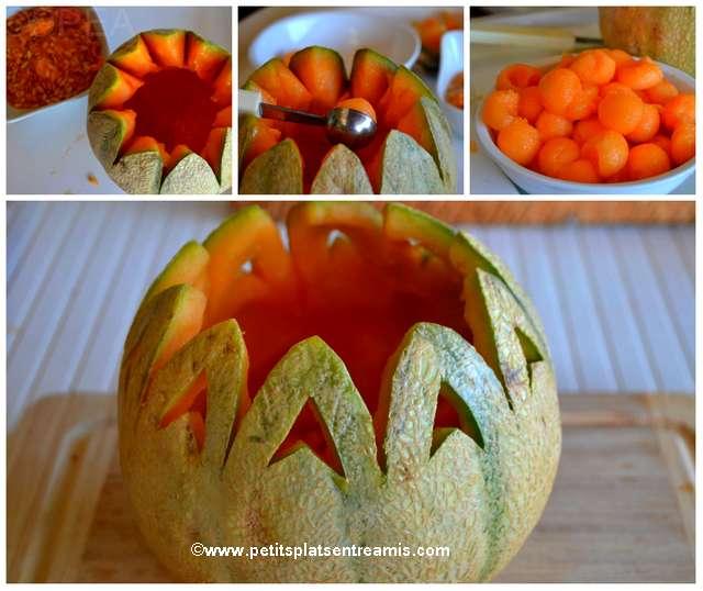 découpe du melon