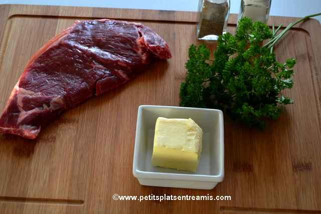 ingrédient faux-filet de galice beurre maître d'hôtel
