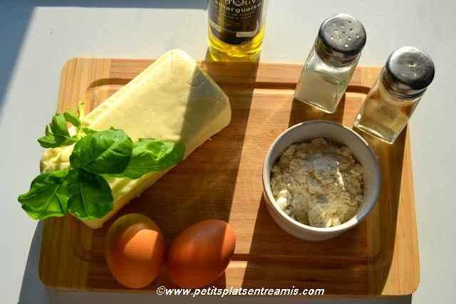 ingrédients batonnets de fromage panés
