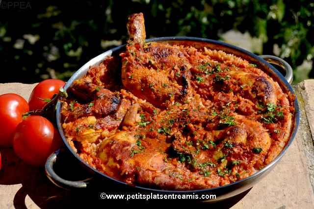 plat de poulet aux tomates