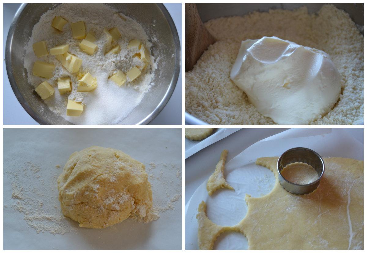 préparation pâte pour sablés confiture