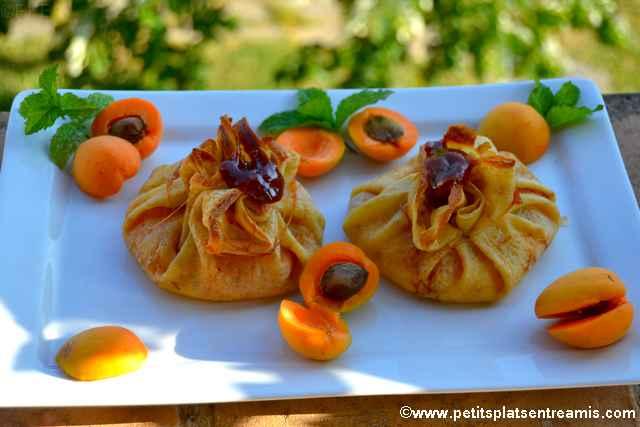présentation abricots en aumonières