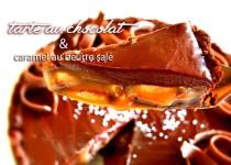 Tarte au chocolat & caramel au beurre salé