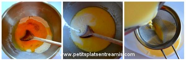 crème pour tartelettes aux pommes