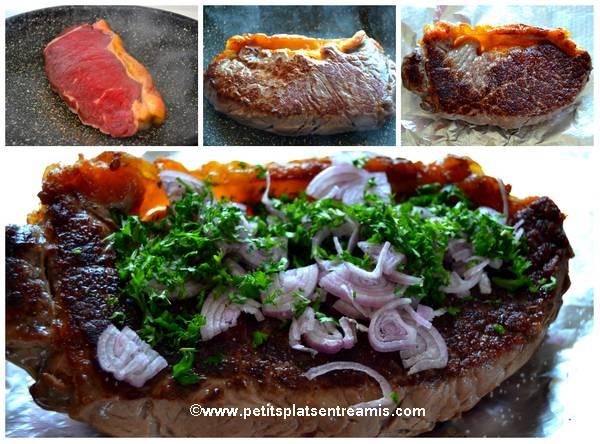 cuisson faux-filet au jus de couteau