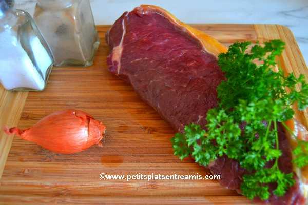 ingrédients faux-filet au jus de couteau