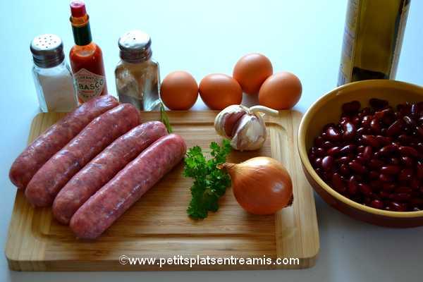 ingrédients huevos-rancheros