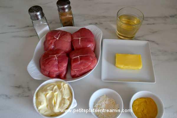 ingrédients paupiettes-de-veau-à-la-crème