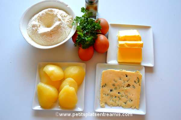ingrédients pour financiers-aux-poires-et-bleu-d'Auvergne