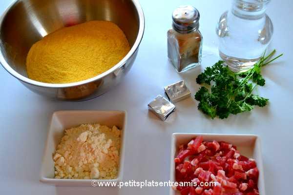ingrédients quenelles de farine de maïs