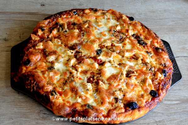 recette pizza au poulet