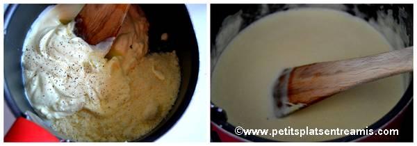 sauce crème et parmesan