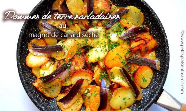 Pommes-de-terre-sarladaises-au-magret-de-canard-séché