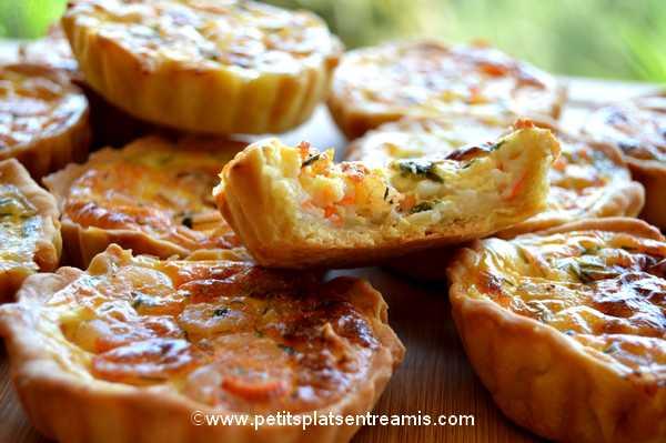 bouchée minis-quiches-aux-crevettes-et-surimi