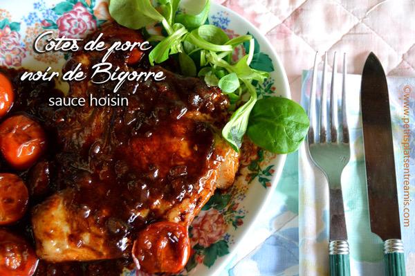 côtes-de-porc-noir-de-Bigorre-sauce-hoisin