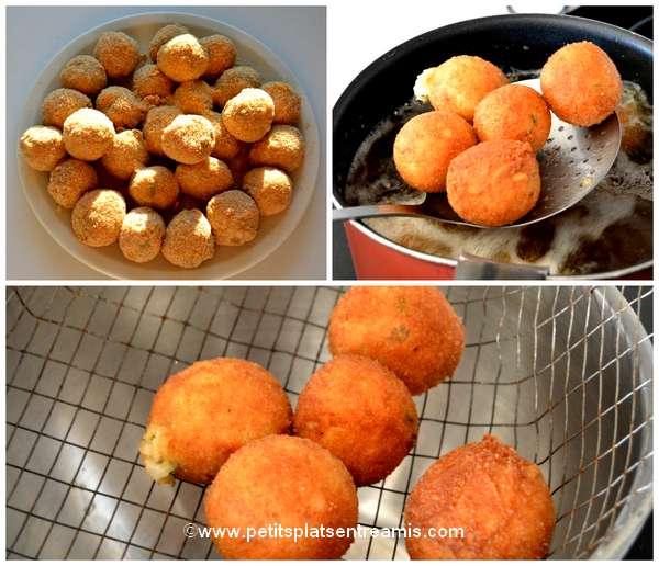 cuisson boulettes de riz aux champignons
