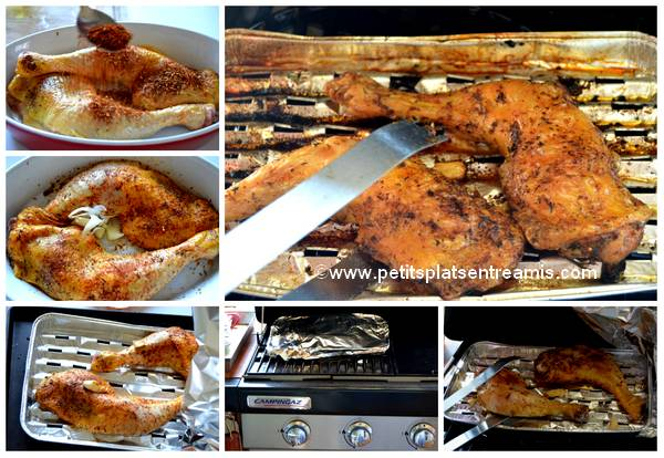 cuisson cuisses de poulet aux épices au barbecue