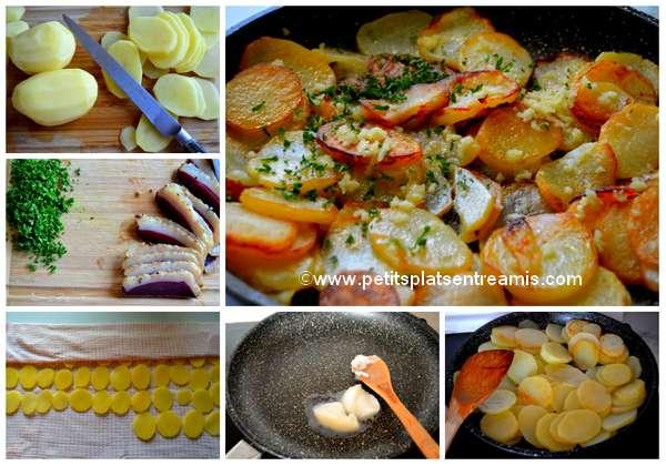 cuisson pommes de terre sarladaises