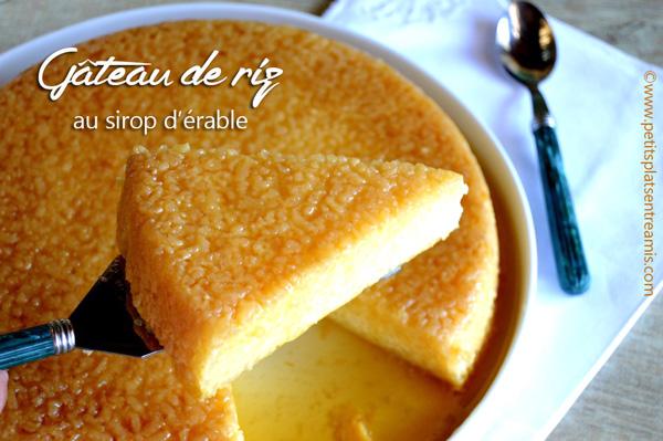 gâteau de riz au sirop d'érable | petits plats entre amis