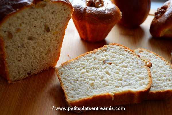 idée de goûter pain brioché aux noix et sirop d'érable