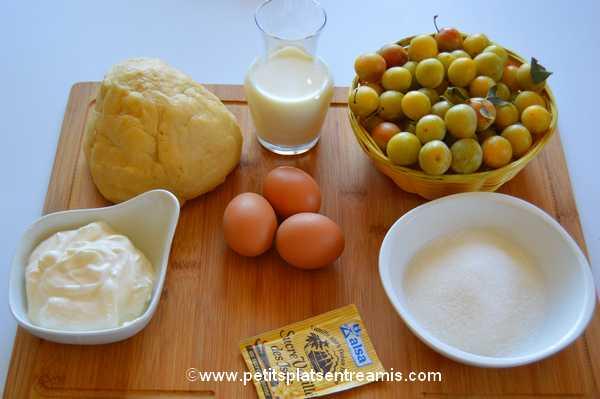 ingrédients Tarte aux mirabelles