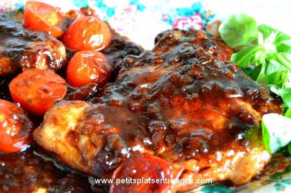 recette côtes de porc noir de Bigorre sauce hoisin
