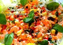 Salade de soja et crevettes