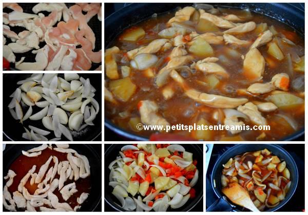 cuisson poulet à l'ananas