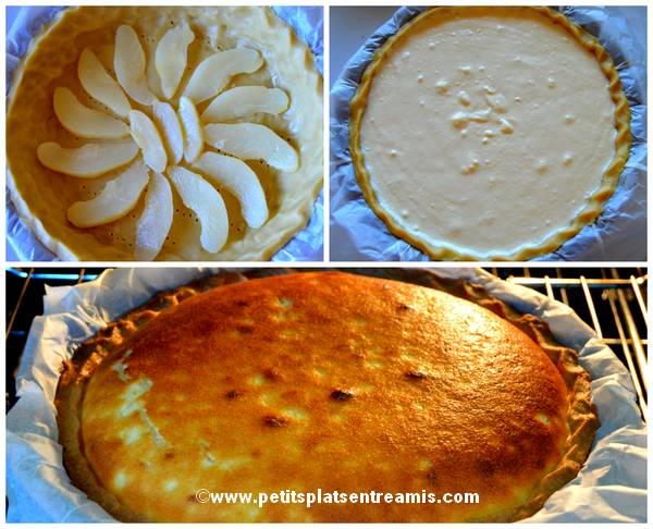 cuisson tarte au fromage blanc et poires