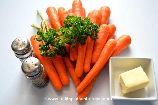ingrédients carottes Vichy