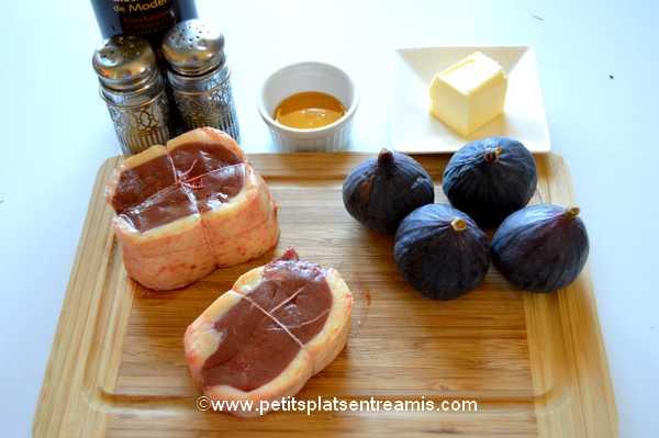 ingrédients tournedos de canard aux figues