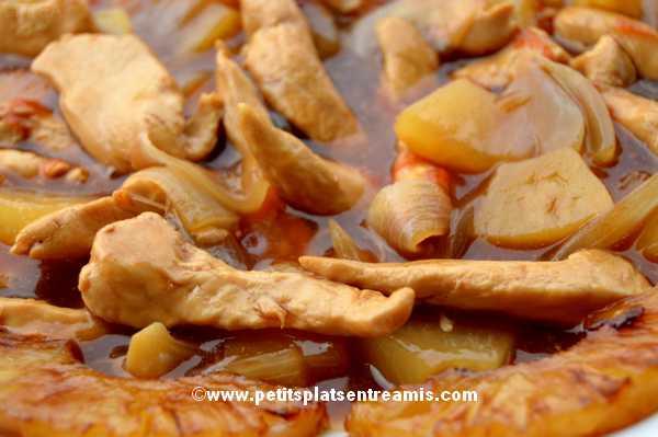 recette poulet à l'ananas
