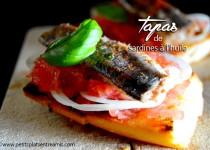 Tapas de sardines à l'huile