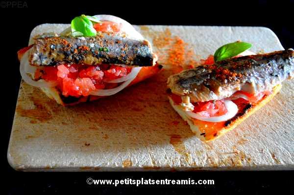 tapas de sardines à l'huile recette