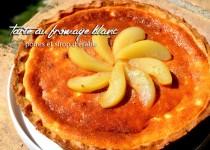 Tarte au fromage blanc – poires et sirop d'érable