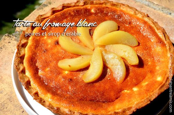 tarte-au-fromage-blanc---poires-et-sirop-d'érable