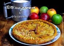 Tarte au pommes et à la cannelle