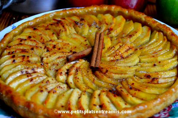tarte aux pommes et à la cannelle recette