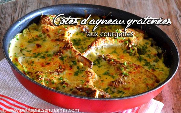 Côtes-d'agneau-gratinées-aux-courgettes
